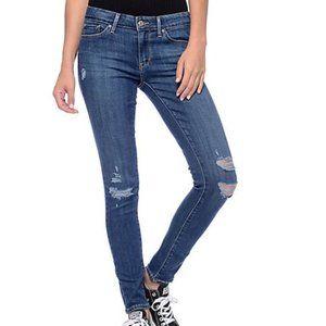 Levi's 711 Skinny Distressed Jean's W26 L30